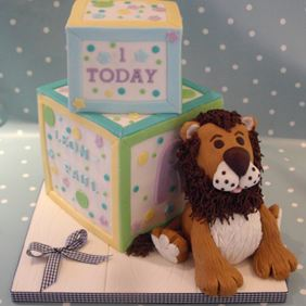 childs building block cake